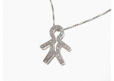 Baby in White gold and Diamonds Pendant