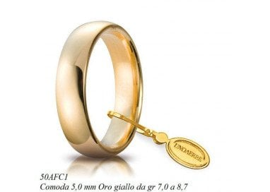 Wedding Band Comfortable UNOAERRE 5 mm
