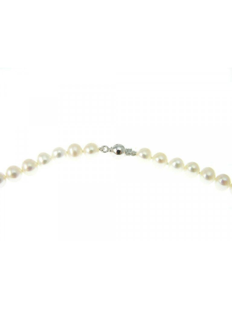 Pearls Bracelet with White Gold Sphere