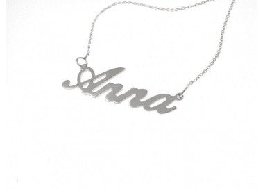 Name Necklace white  gold big version