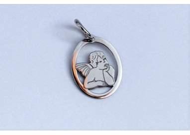 Little Angel Pendant in white gold