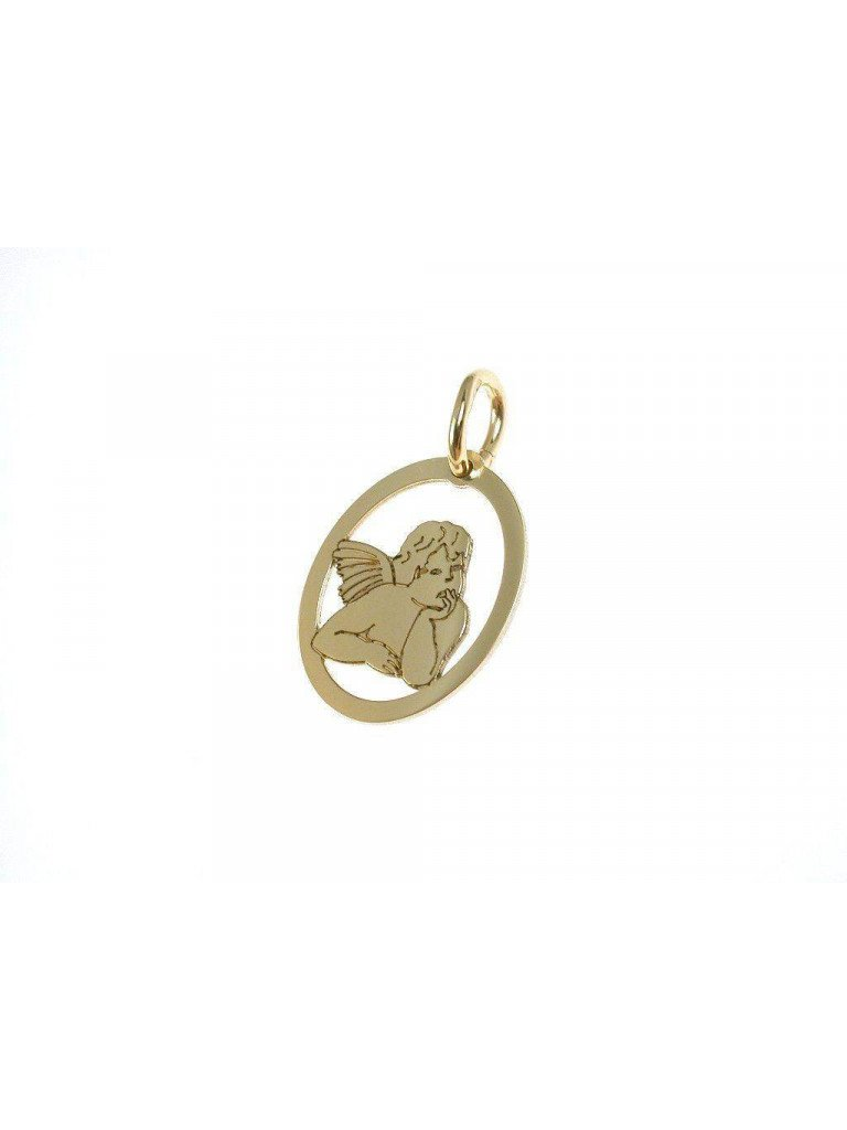 Little Angel pendant in yellow gold