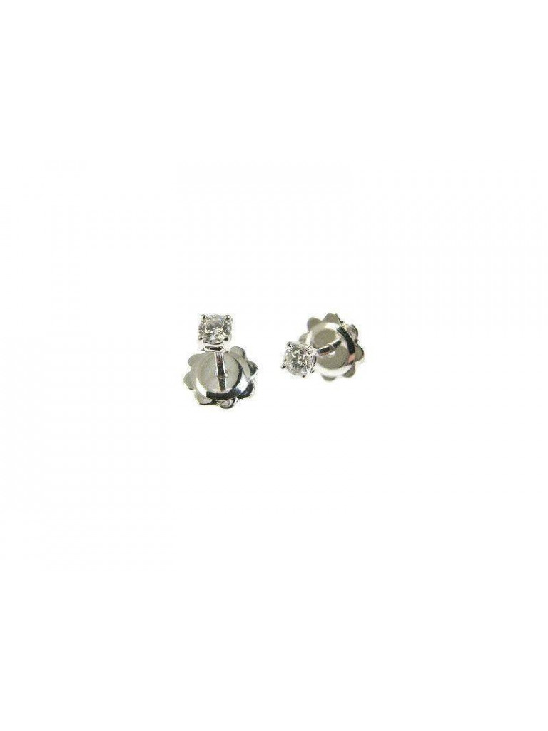 Solitaire earrings 0.180 ct