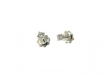 Solitaire earrings 0.215 ct