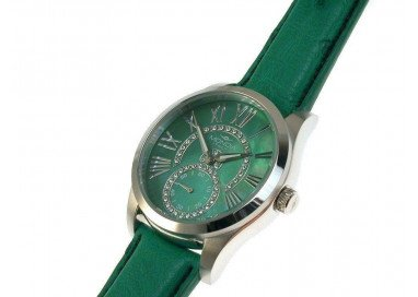 MONDIA Watch, Lady Madison, mother-of-pearl dial and cubic zirconia