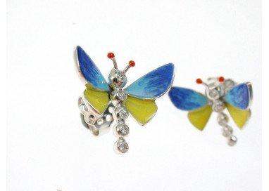 Orecchini Farfalle Blu