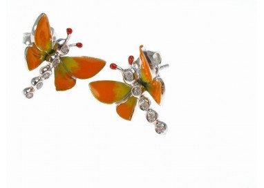 Orecchini Farfalle Arancione