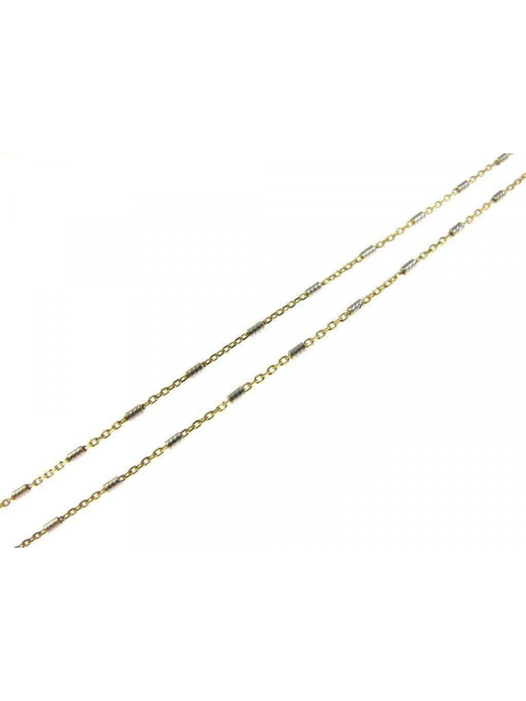 24 inches Necklace sparkling tubes 2 colors gold