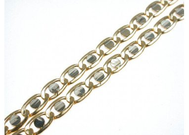 Necklace traversino yellow and white gold