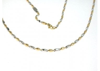 50 cm Necklace tubular chain GC112 bicolor