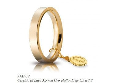 Fede Cerchi di Luce 3,5 mm UNOAERRE Oro Giallo