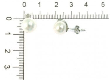 Studs Earrings with pearl and zircon