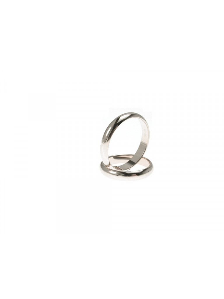 Wedding Band 4 grams White Gold