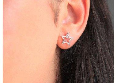 Orecchini Stella Diamante indossata