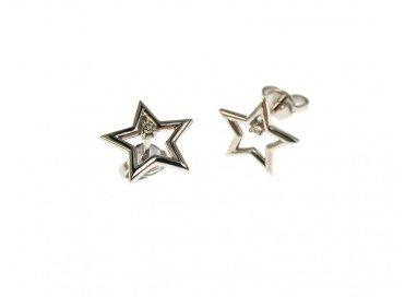 orecchino stella diamante