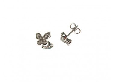 Butterfly Earrings in white gold and diamonds