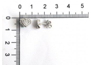 Orecchini Cuore oro bianco e diamanti misure
