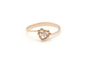 Anello cuore easy love diamante 18kt