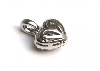 Sparkling Rounded Heart Charm