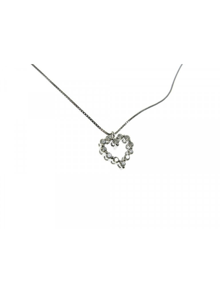Necklace with small hollow Heart charm