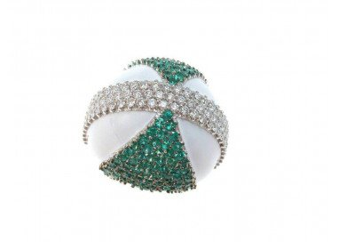 Ring Dome Emeralds