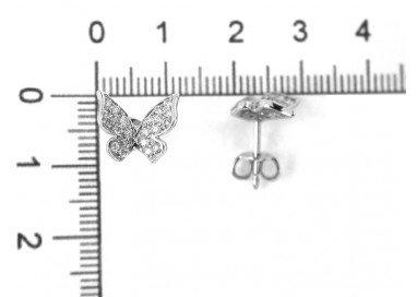 Orecchini Farfalla oro bianco e diamanti misure