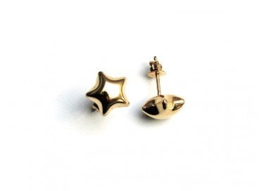 Rounded Stars Earrings in 18kt yellow gold