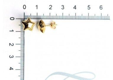 Orecchini Stella Bombata in Oro Giallo misure