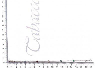 Bracciale Gocce di Luce Colorate misura lunghezza