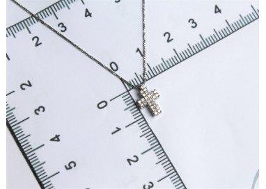 Girocollo con Croce Diamanti foto misure