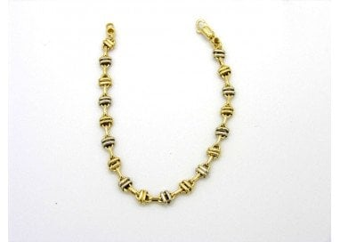 Speed Chain Bracelet in 18kt yellow and white gold