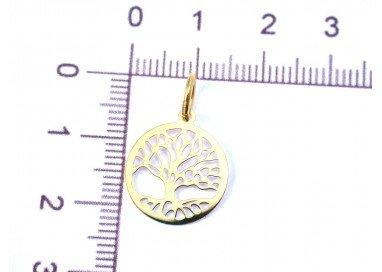 foto albero della vita oro giallo piccolo misure 1