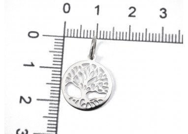 Charm Tree of Life in 18kt White Gold