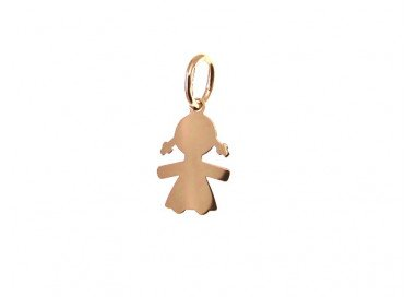 Plate Baby-Girl charm in Rose gold Misura S