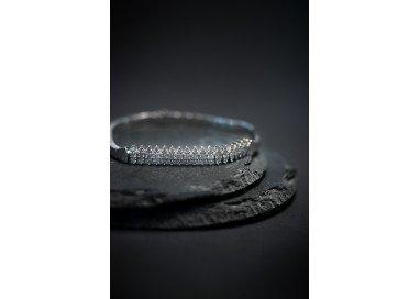 bracciale navette diamanti e oro