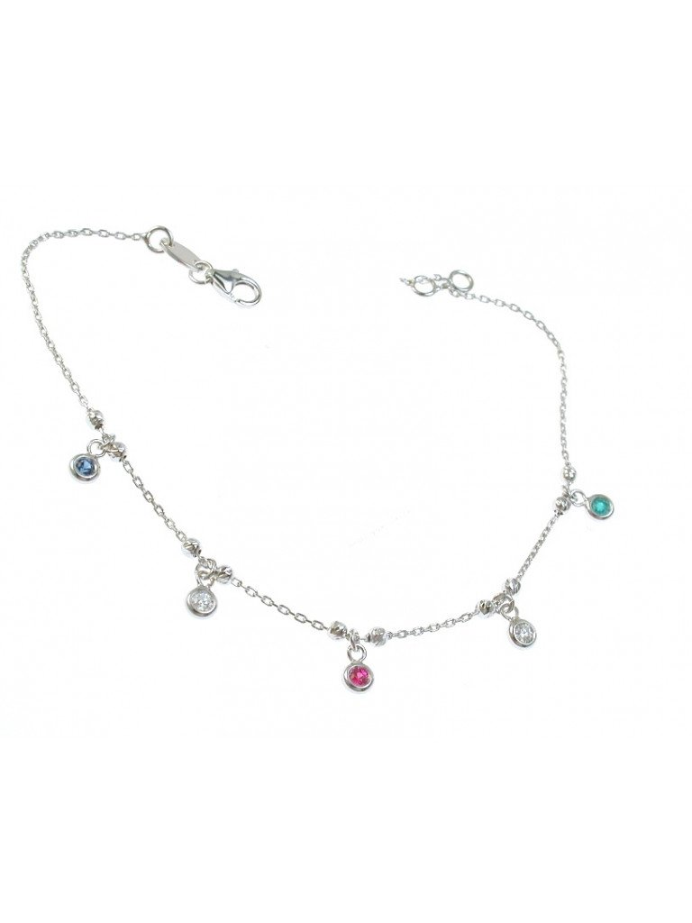 """Bracelet with Charms """"Gocce di Luce Colorate"""""""
