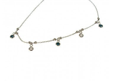 "Bracelet with Charms ""Gocce di Luce Bianche e Blu"""