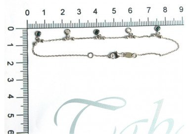 """Bracelet with Charms """"Gocce di Luce Bianche e Blu"""""""