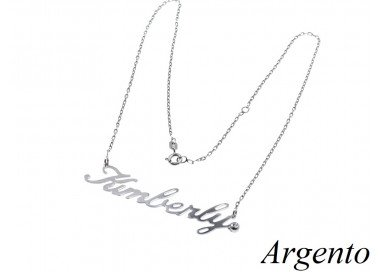 Silver Necklace with name KIMBERLY
