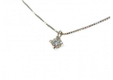 Collana diamante punto luce Sparkle