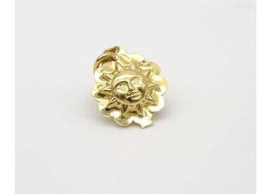 Ciondolo Sole Oro Giallo