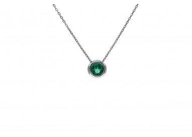Ciondolo Circle Smeraldo