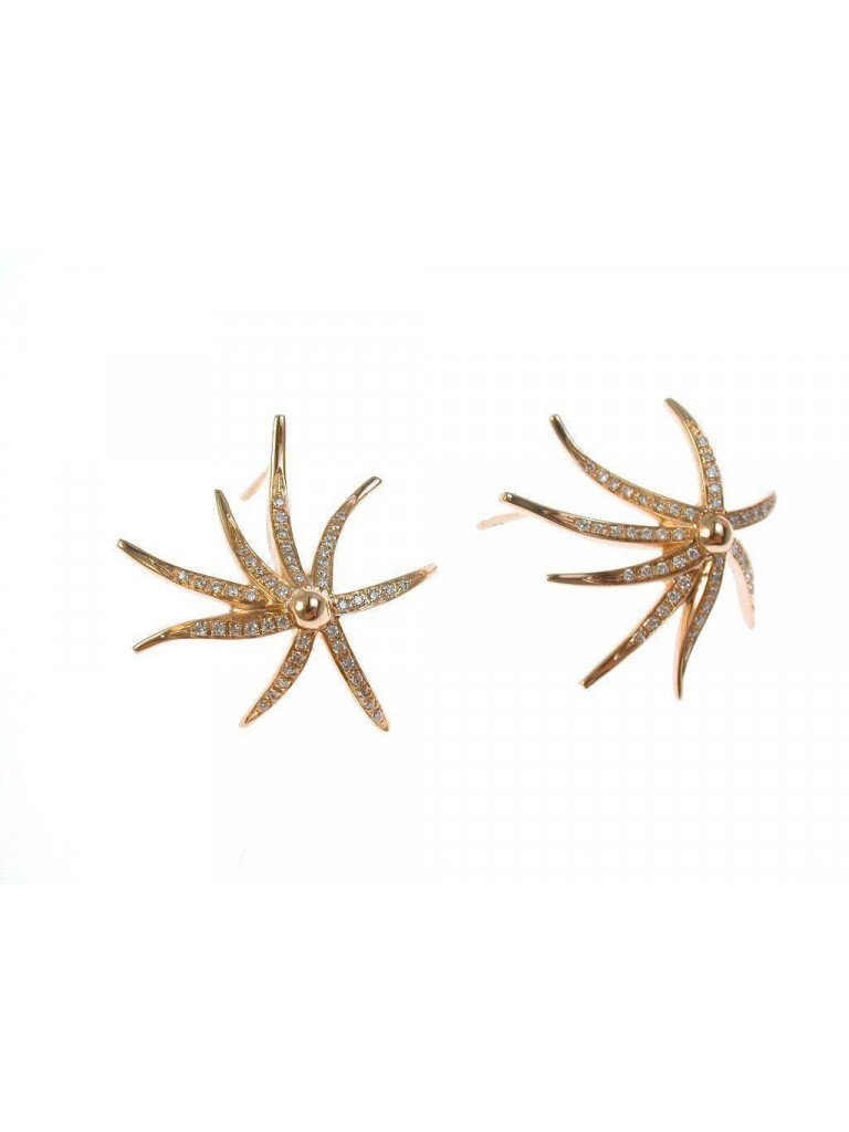 Earrings Starfish Rose Gold