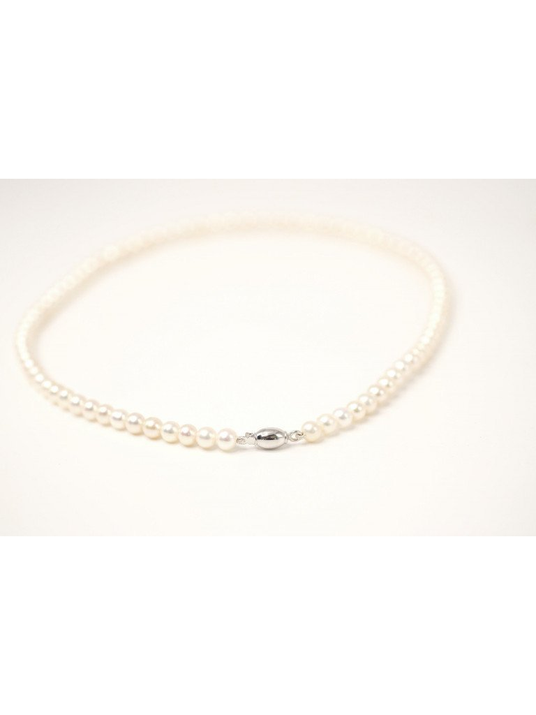 Pearls Necklace White Barrel