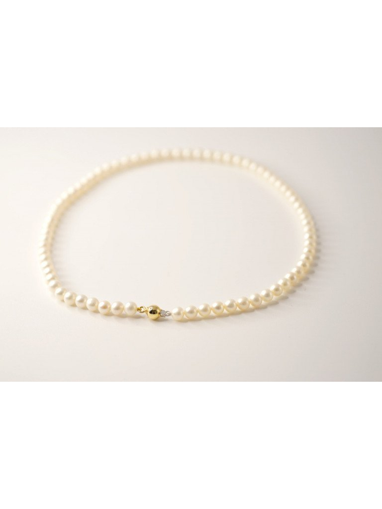 Pearl Necklace Sphere Yellow Gold