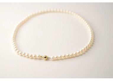 Collana Perle Sfera Oro Giallo