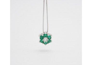 Emerald Flower Necklace