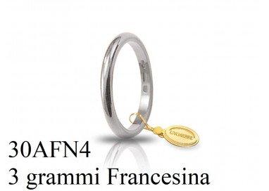 Fede Classica Francesina 3gr UNOAERRE Oro Bianco
