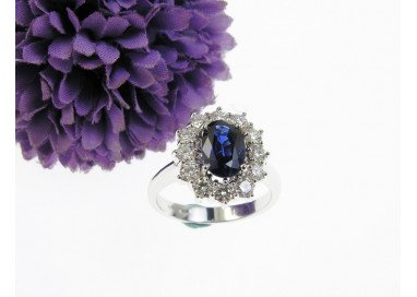 Blue Sapphire Kate Ring