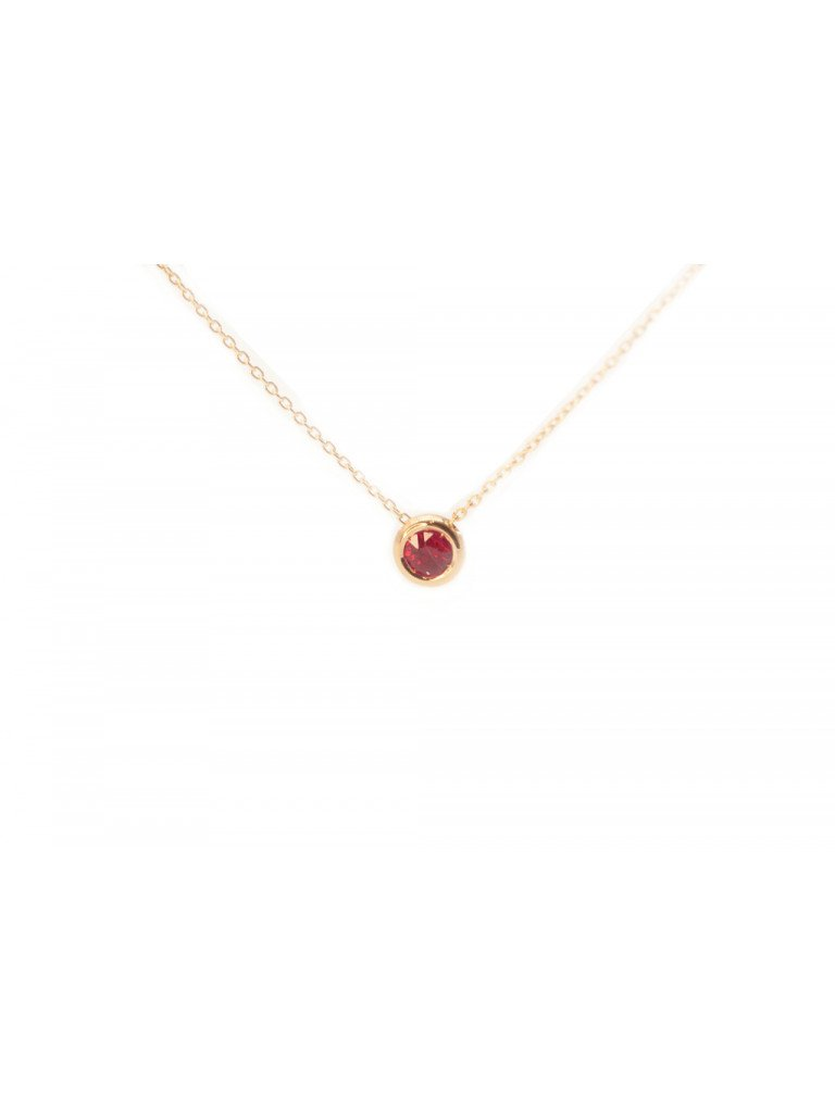 Necklace Circle rose gold Ruby
